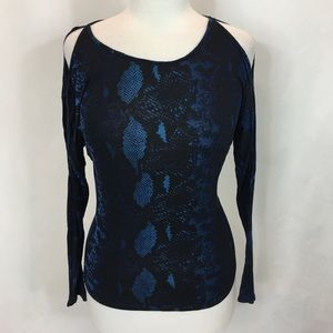 Express designer animal print blouse